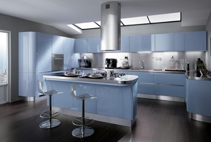 Couleur pour ma cuisine svp for Cuisine couleur bleu gris