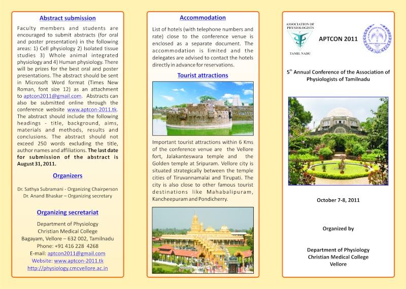 event brochure aptcon 2011