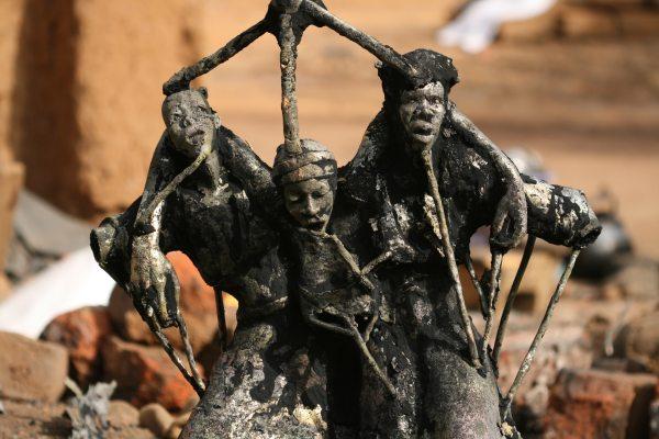 nettoyage statue en bronze
