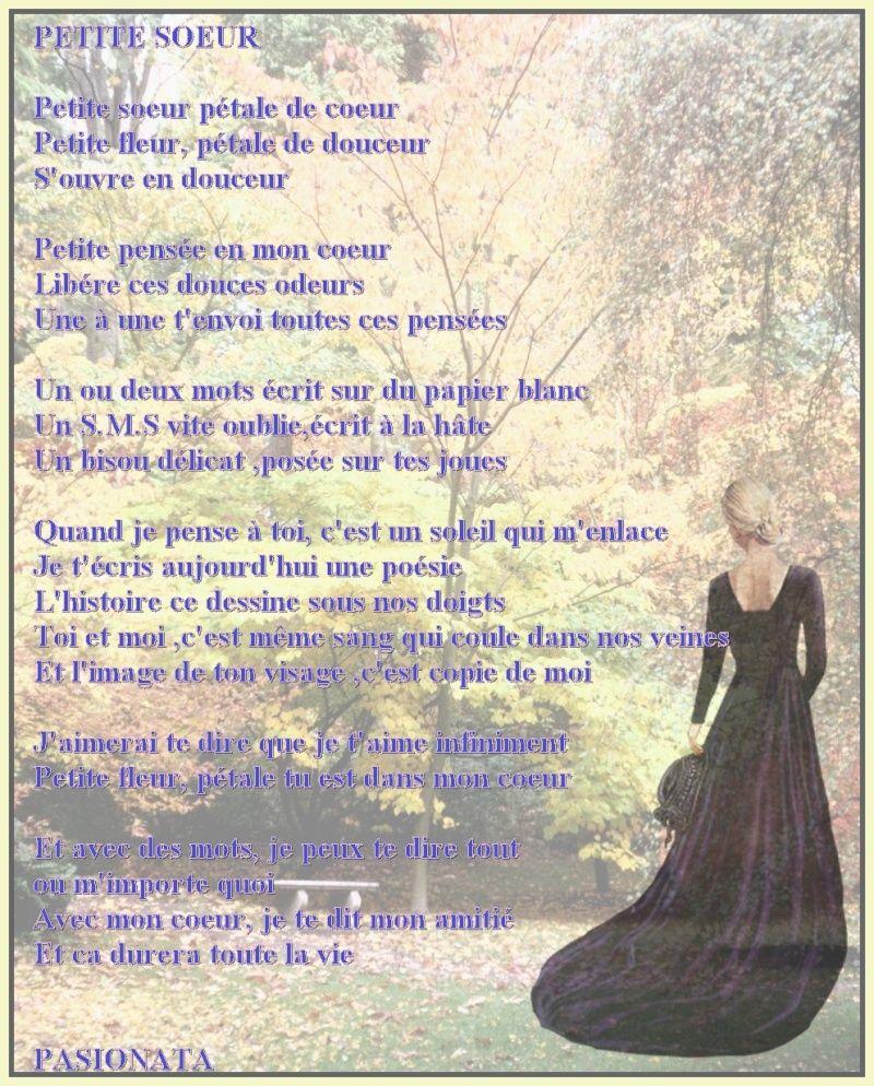Poeme Petite Soeur Je T Aime