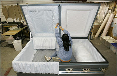 cercueil pour 2 personnes