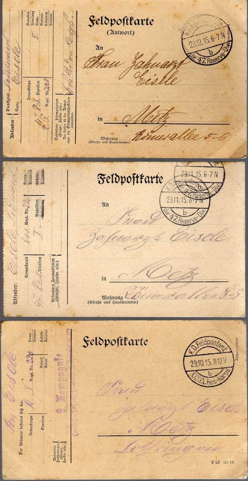 postkarte ou correspondances militaires allemandes