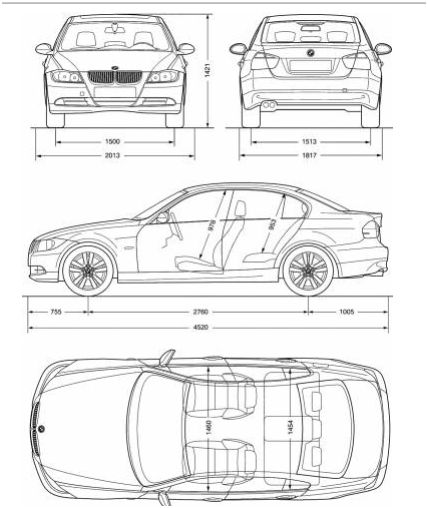 dimension bmw s rie 3 e90 bmw