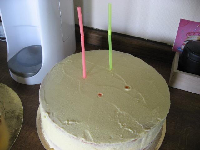 gâteau à étage - préparation et assemblage