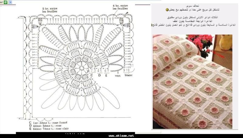 مفارش سرير كروشيه ، صور مفارش سرير كروشيه جديدة و حلوه مع التريكو روعه ، مفارش سريرك 8c31f111.jpg
