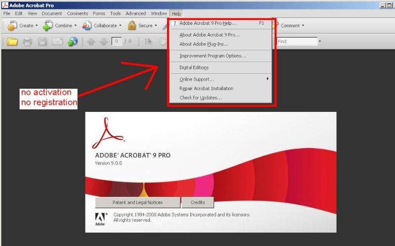 Adobe Acrobat 9 Pro.