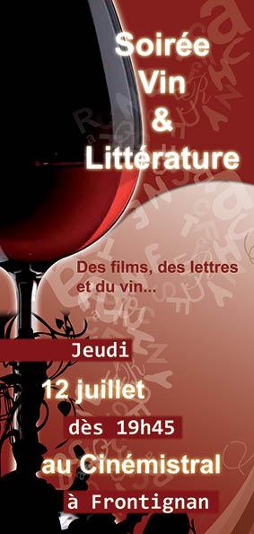 Soirée Vin, Littérature et Cinéma