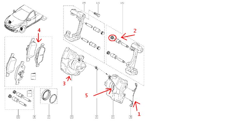 Changer plaquette de frein arriere megane 3