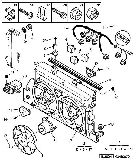 Citroen Xantia 1 9 Td An 1996 Ventilateurs Moteur Qui