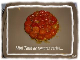 Blog de valsixt : Les gourmandises de Val, Mini Tatin de tomate cerise