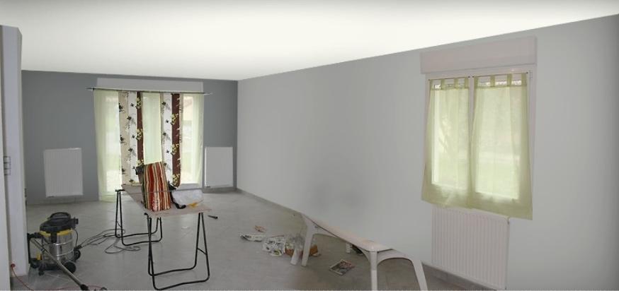 Un peu de d co rideaux le blog de la construction de daniel et val rie - Rideaux de salle a manger ...