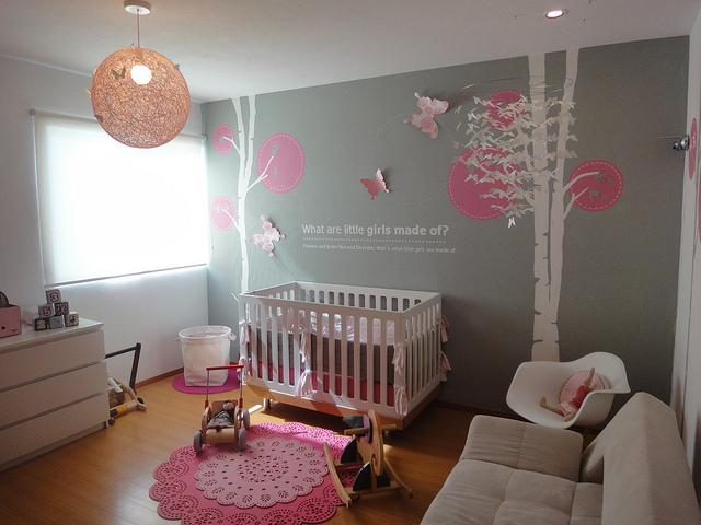 Chambre de mes filles page 5 for Baby girl crib decoration ideas