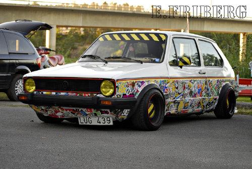 Sticker Bombing Le Forum Sur La Volkswagen Golf 1