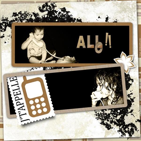 kit memories in kraft papers simplette page kalinoou