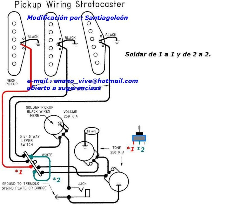 Schema Elettrico Stratocaster : Schema elettrico stratocaster fender