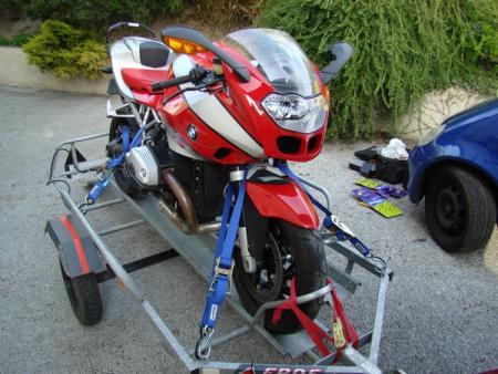 Vend remorque porte moto erde - Remorque porte moto grosse cylindree ...