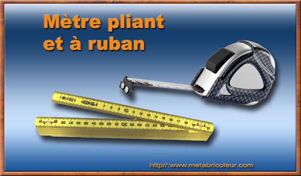 M trologie unit s et instruments de mesure lin aires - Metre pour mesurer ...