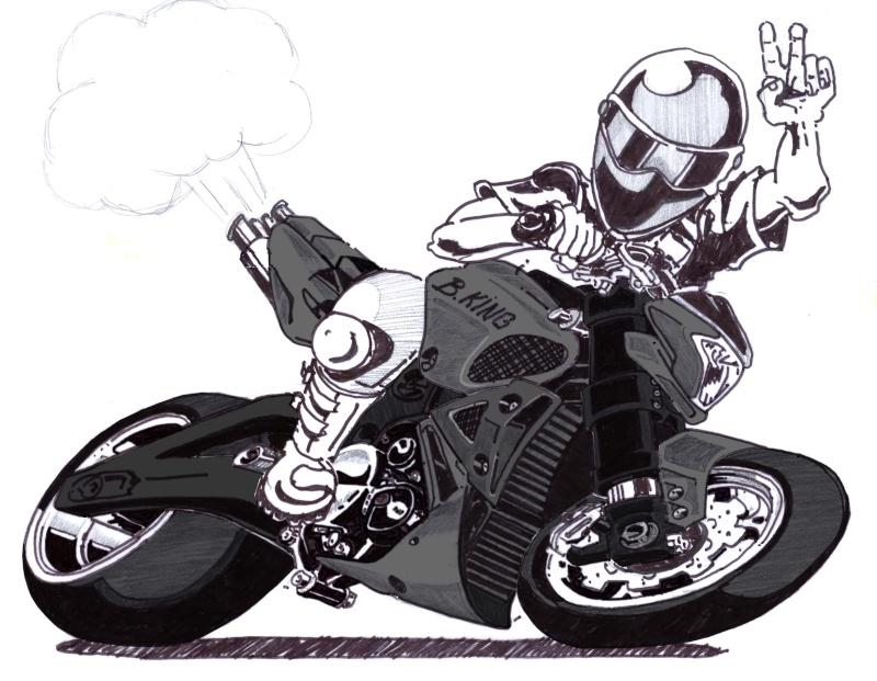 Illustration proposition pour le prochain rasso - Dessin de motard ...