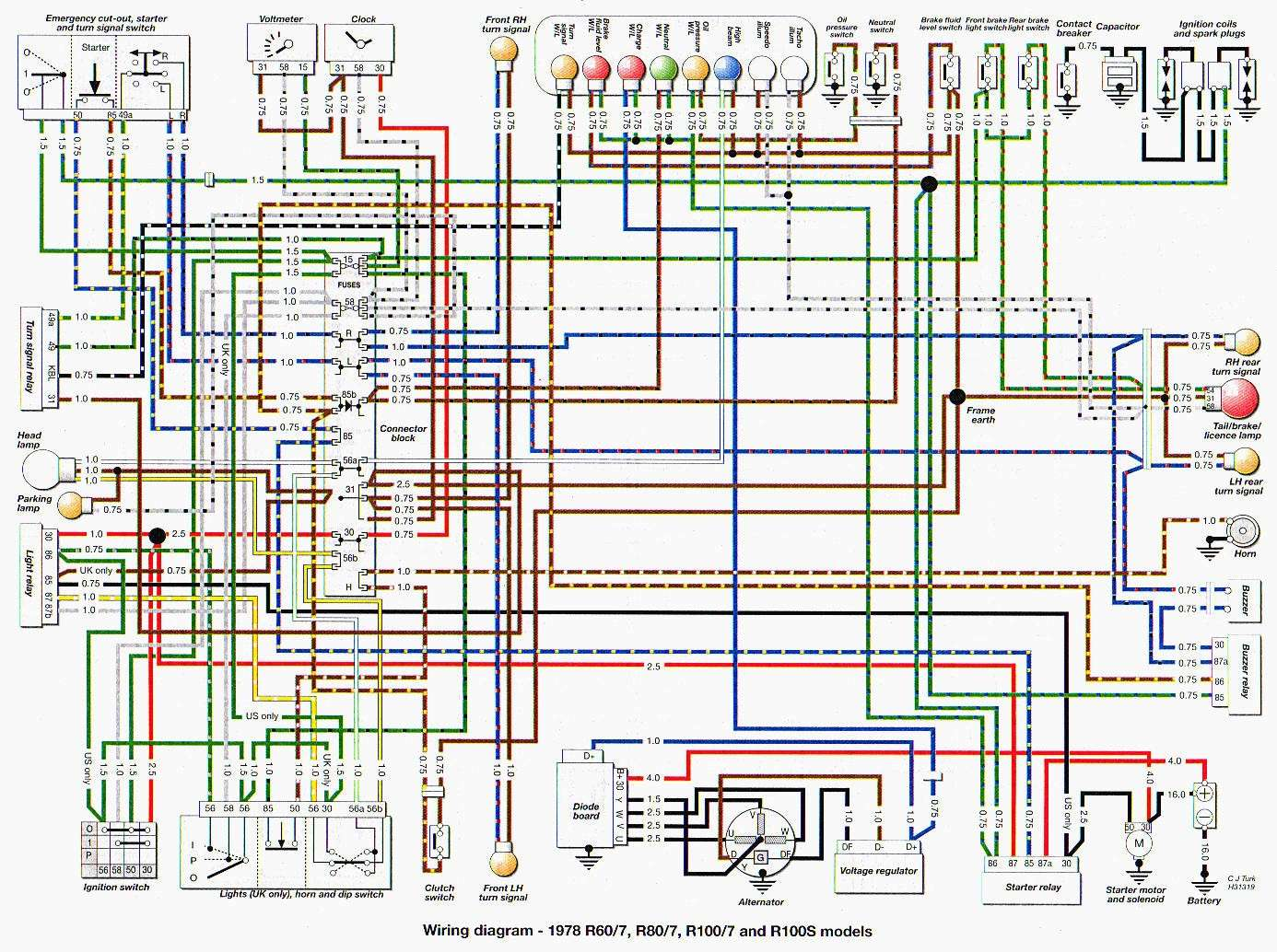 e bike controller wiring diagram schema electrique k75 #12
