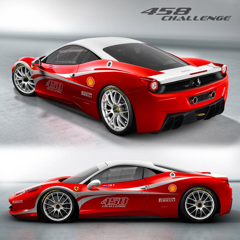 Ferrari 458 Italia Challenge( Modèle De Présentation)