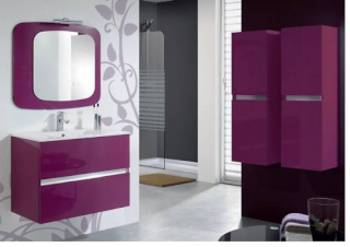 Besoin d 39 aide pour une d co salle de bain - Meuble de salle de bain couleur aubergine ...