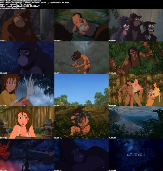 Tarzan dvdrip espa ol latino descargar ver online - Tarzan pelicula completa ...