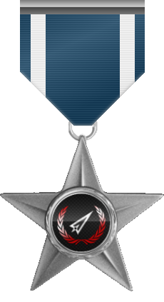 Humanitarian Service Medal - This medal is awarded to a member who helped in a cause without self interest and just for helping a person in need.