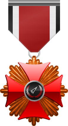 Bronze level of Red Cross of the Silver Arrows - This award is given to a member who participated in a number of assignments in hostile territory. Bronze level is the first of six.