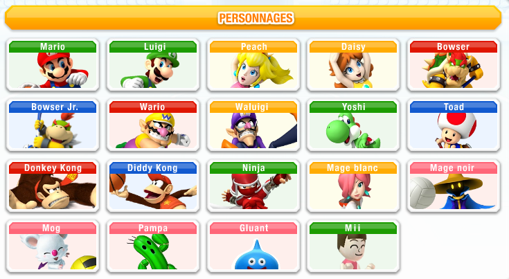 Personnages - Tous les personnages mario kart wii ...