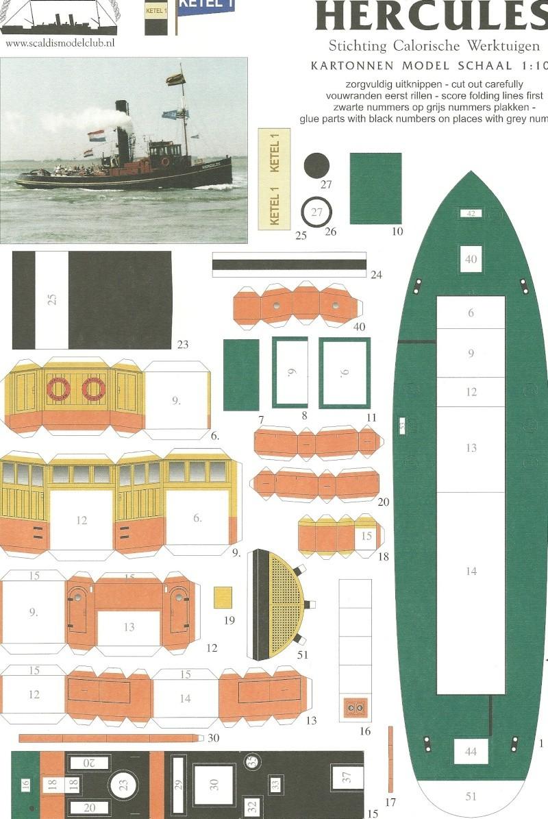 Maquette bateau bois remorqueur navigante  Soclaine