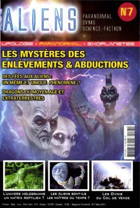 ALIENS : Les mystères des enlèvements et des abductions Paranormal revue magazine mars 2011 forum matrix reptilien ovnis du col de Vence crop circle
