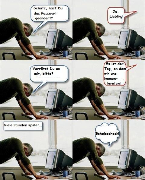 password vergessen