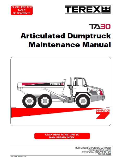 terex ta30 articulated dumptruck maintenance manual auto. Black Bedroom Furniture Sets. Home Design Ideas