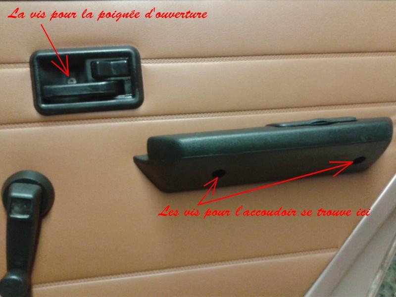 D montage des diff rents l ment d 39 une porti re arri re ph 2 - Demonter poignee de porte sans vis ...