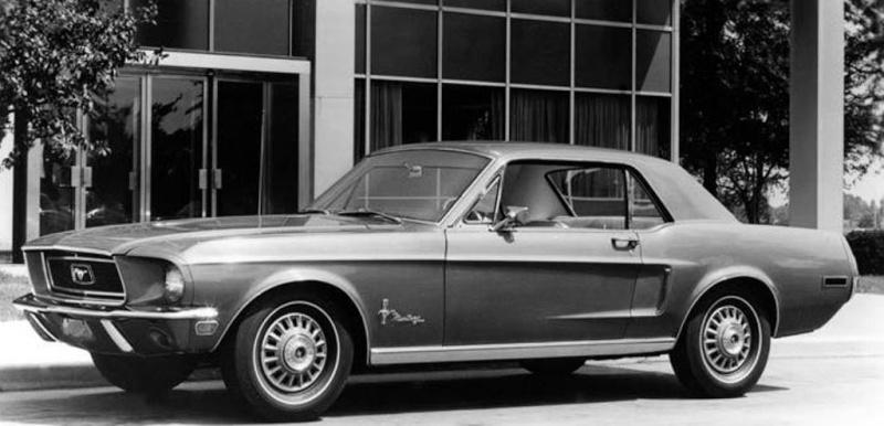 55 option bumper guard et moulure de roue chrom pour mustang 1968. Black Bedroom Furniture Sets. Home Design Ideas