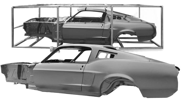 carrosserie de remplacement pour mustang 1967 et 1968 par dynacorn. Black Bedroom Furniture Sets. Home Design Ideas