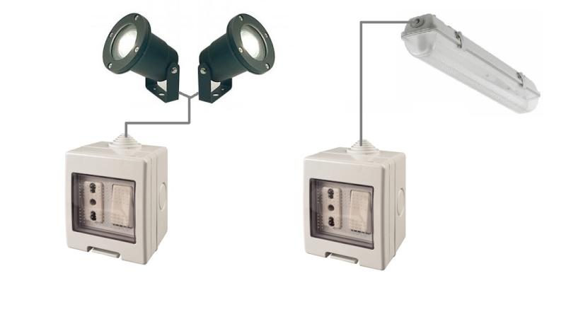 Schema Elettrico Interruttore E Presa : Collegamento tra presa da esterni a plafoniera con tubo al