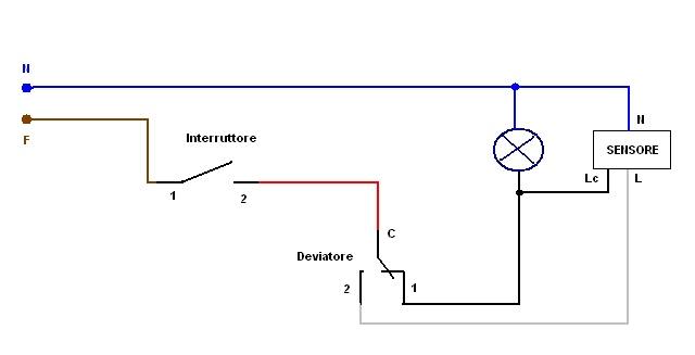 Schema Elettrico Rilevatore Di Presenza : Sensore movimento installazione impianti elettrici
