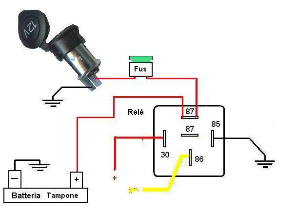 Schema Elettrico Per Fendinebbia : Schema collegamento relè fare di una mosca