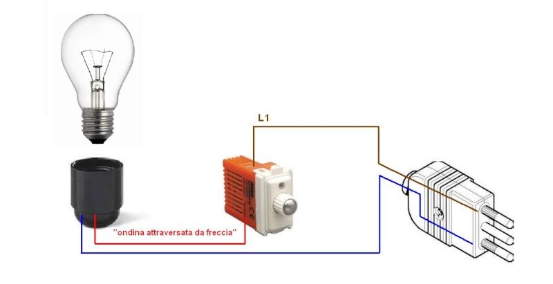Installazione dimmer l4402 installazione impianti for Collegamento interruttore luce