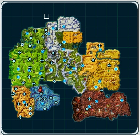 World map does not show teleports or revealers dragon ball online world map gumiabroncs Gallery