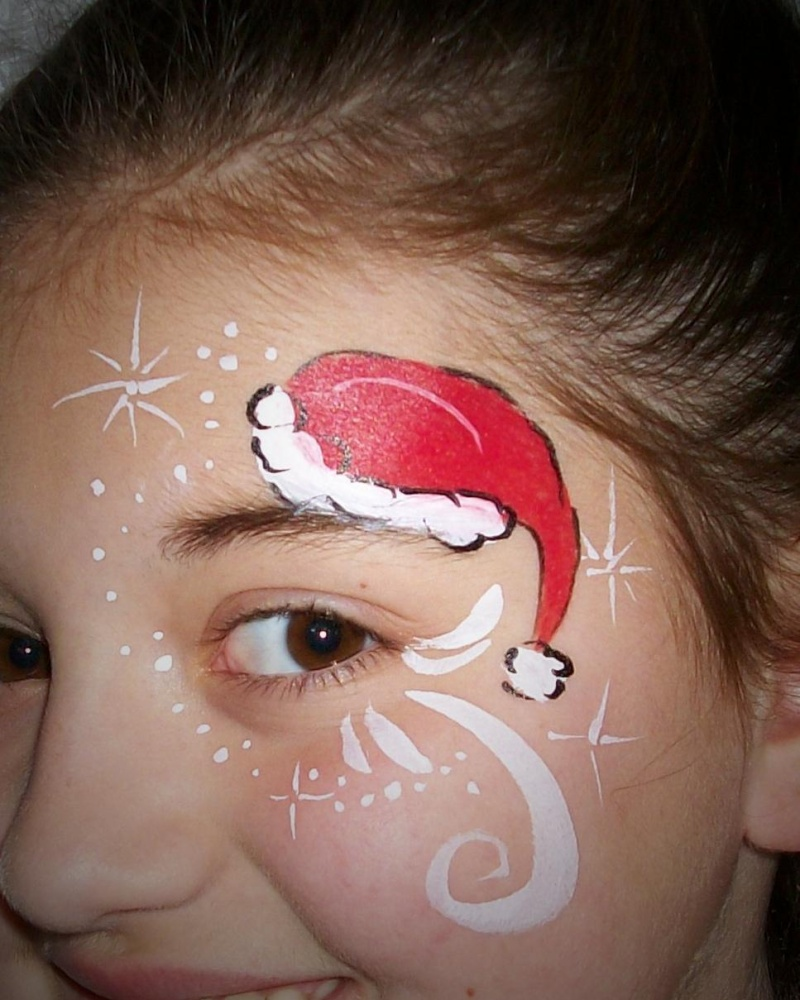 30 faces 30 days of christmas for Christmas art painting ideas