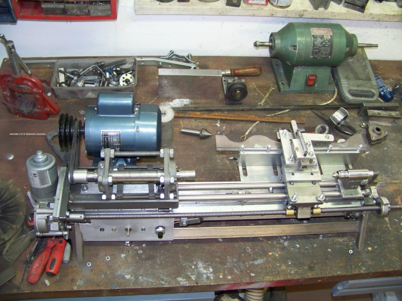 Tornio con copiatore per legno terminato pagina 3 for Costruire un tornio per legno
