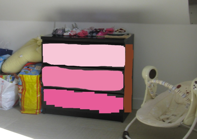 chambre b b fille rose marron. Black Bedroom Furniture Sets. Home Design Ideas
