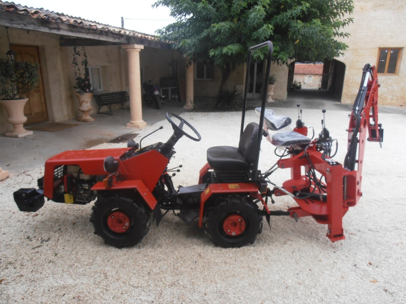 Modification pelle retro bach 39 alu pour micro tracteur trop l ger - Mini tracteur tondeuse ...